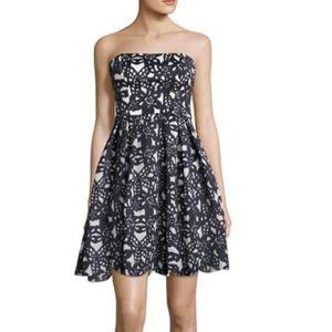 Maggy London | Strapless Bonded Mesh Dress